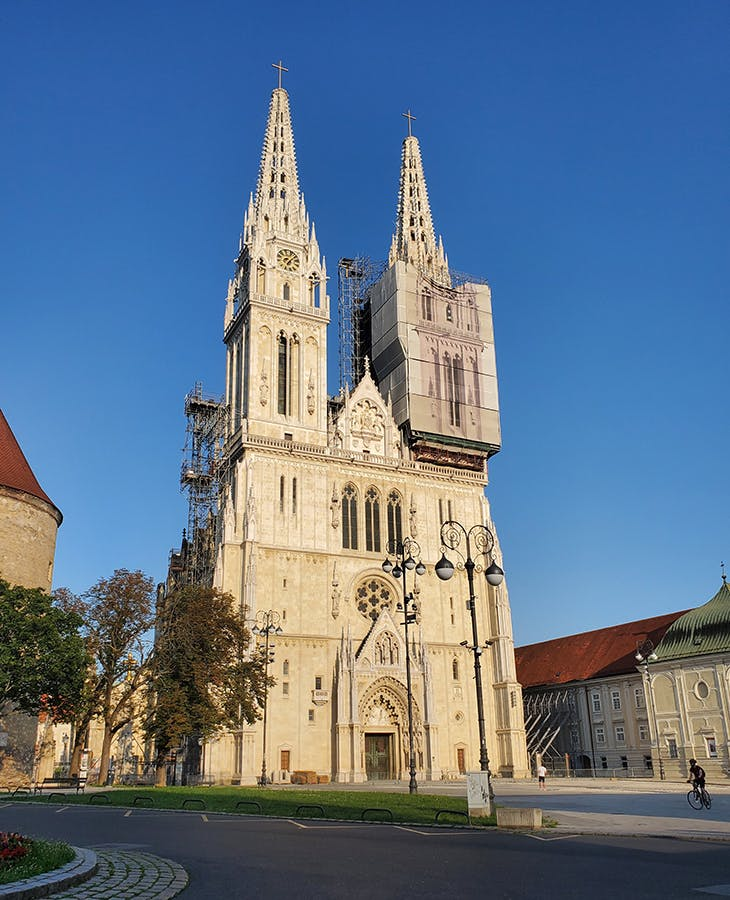 Zagreb Cathedral in 2020, after the earthquake on 22 March. Photo: Ex13/Wikimedia Commons (CC BY-SA 4.0)