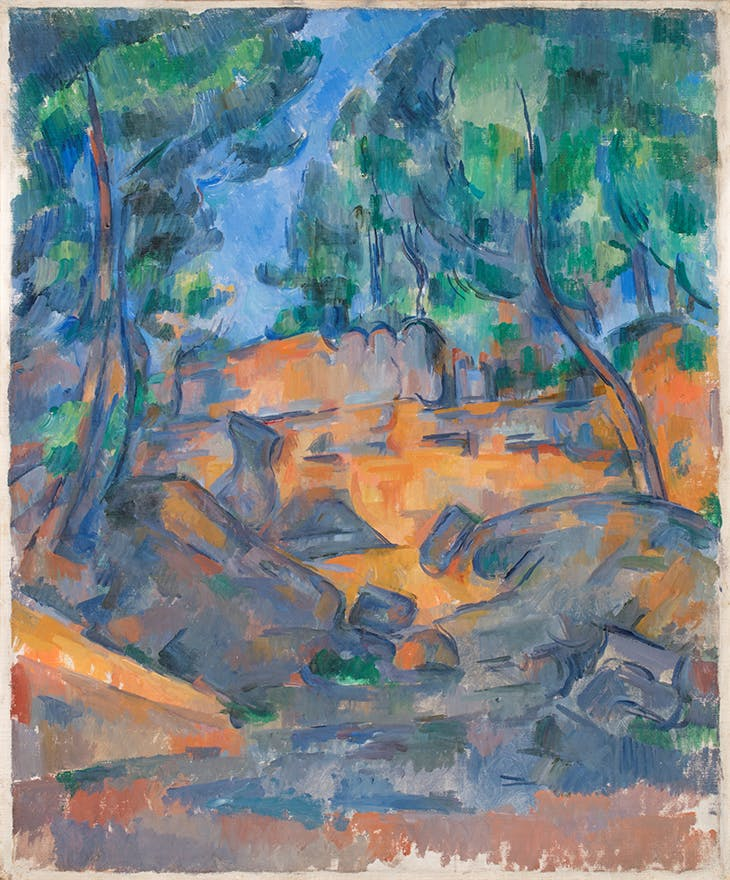Trees and Rocks (1901–04), Paul Cézanne.