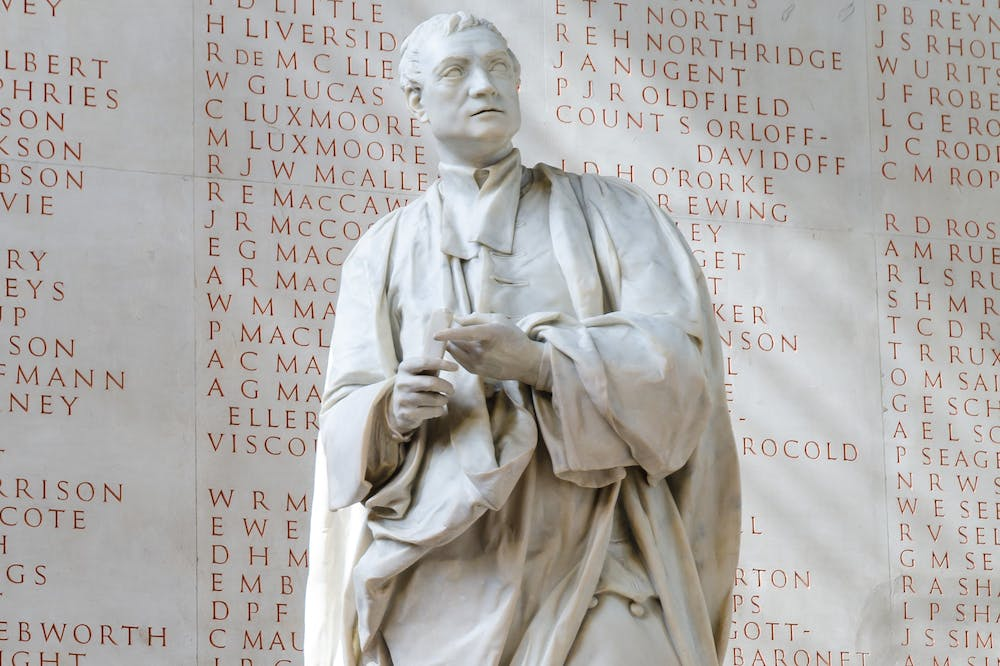 Statue of Isaac Newton (1755), Louis François Roubiliac, Trinity College, Cambridge