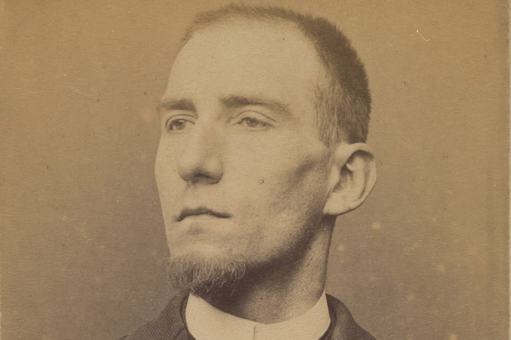 Félix Fénéon (detail; 1894), Alphonse Bertillon.