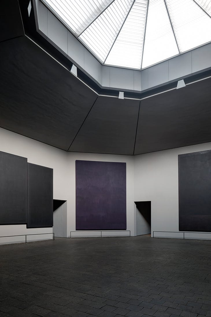 The Rothko Chapel, Houston (photographed in 2020 after restoration; opened in 1971).