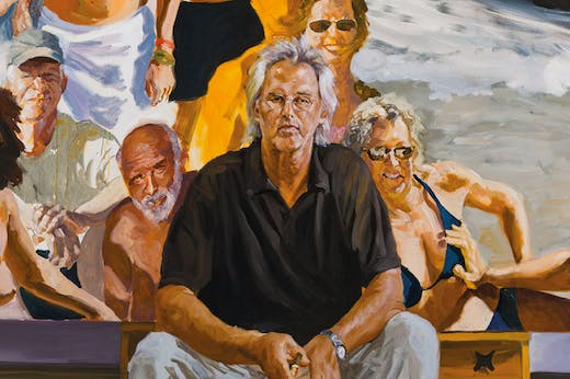 Self-Portrait: An Unfinished Work (detail; 2011), Eric Fischl