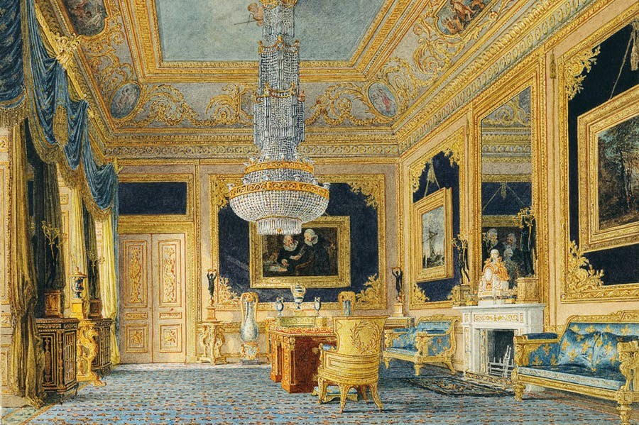 Carlton House: the Blue Drawing Room (detail; c. 1816), Charles Wild