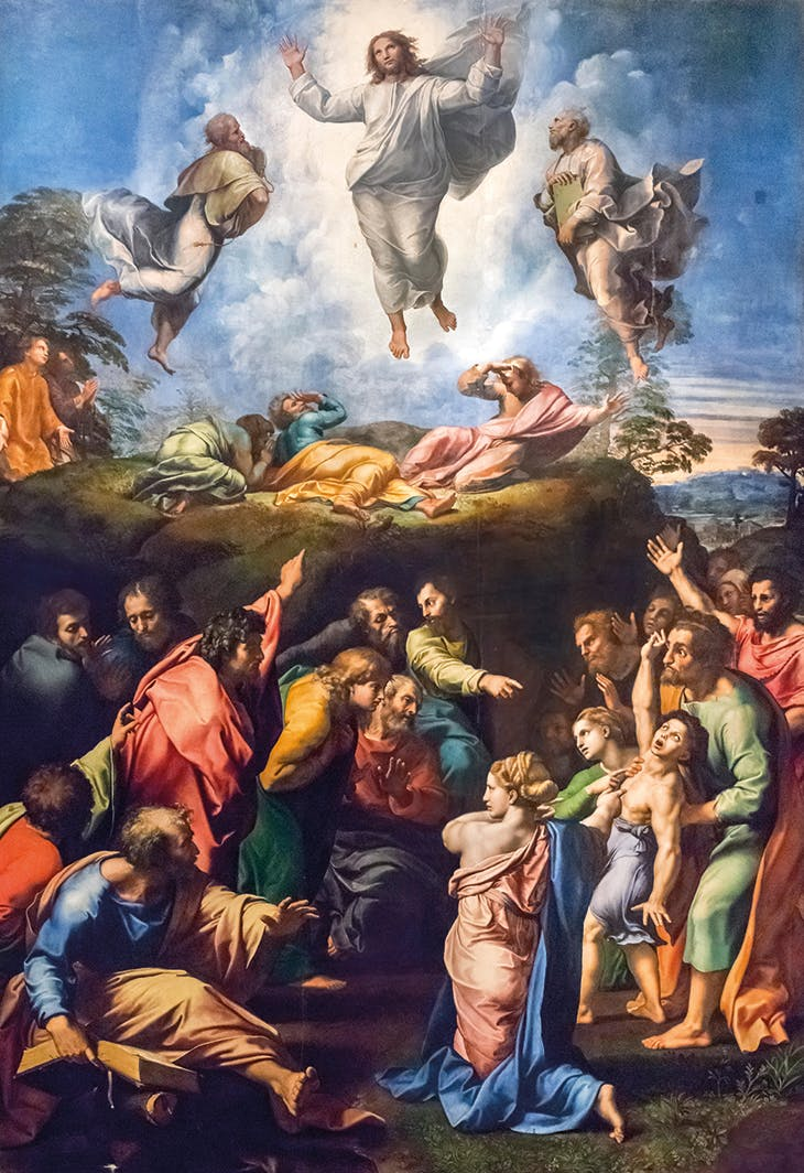 The Transfiguration (1518–20), Raphael. Pinacoteca Vaticana, Vatican City.
