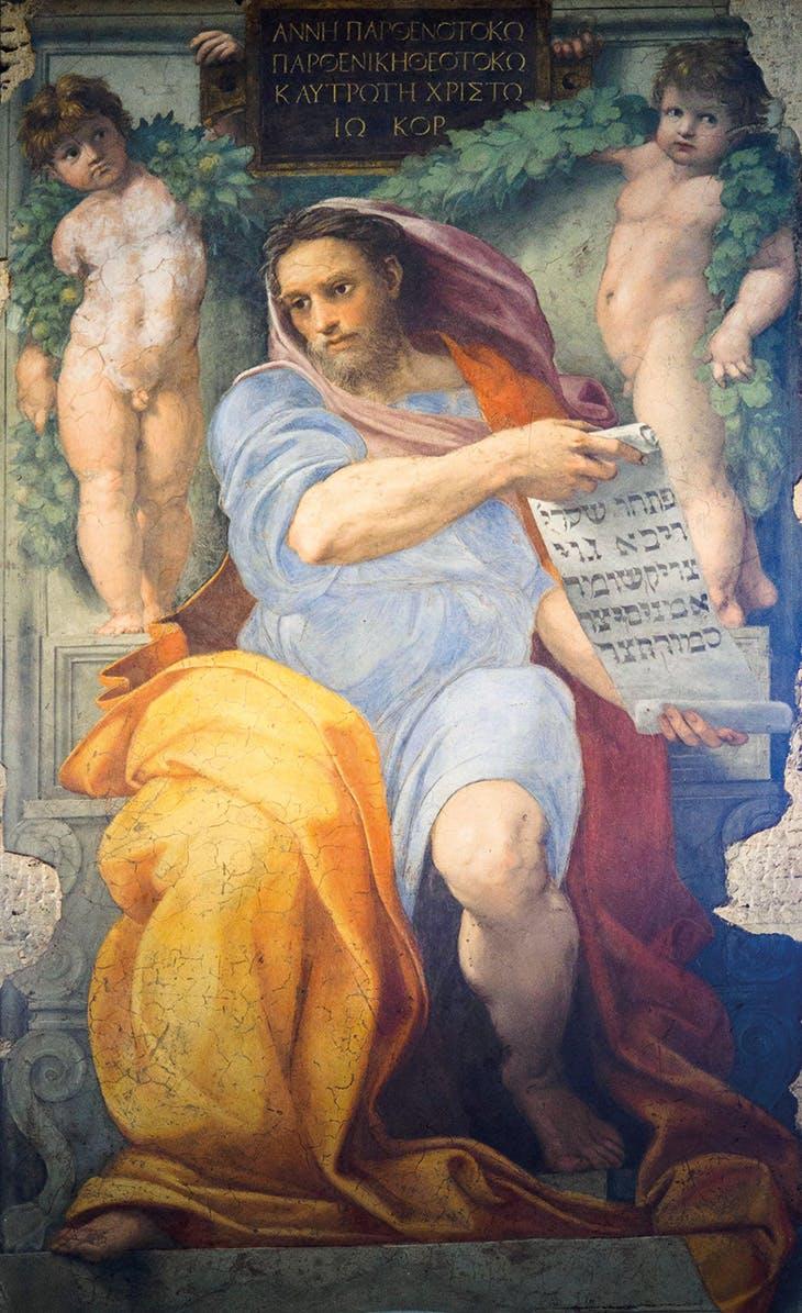 The Prophet Isaiah (1511–12), Raphael. Church of Sant'Agostino, Rome.