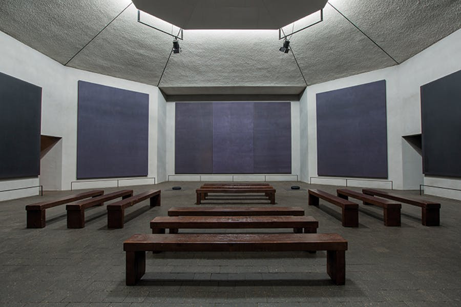 The Rothko Chapel, Houston (pre-restoration; opened in 1971).