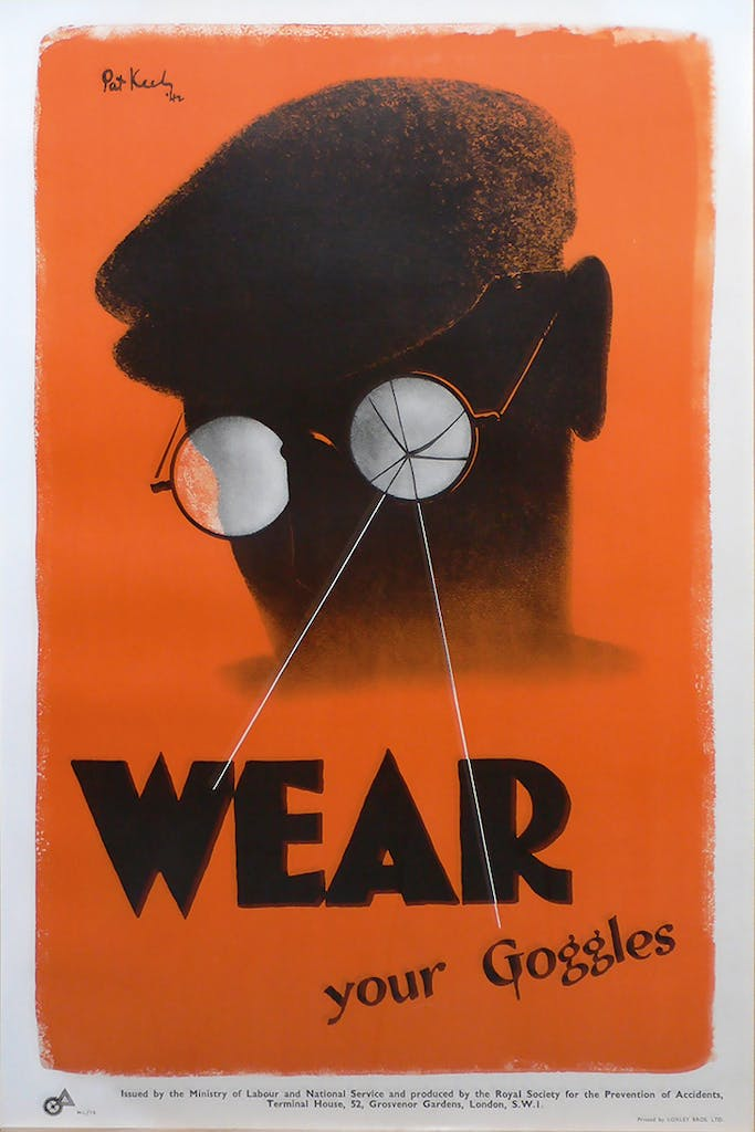 'Wear Your Goggles' (1942), designed by Pat Keely.