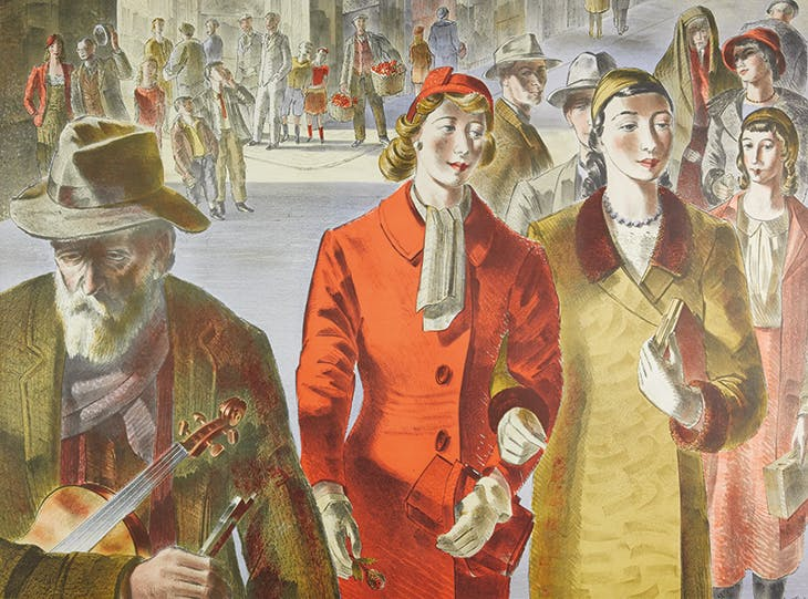 People (1947), designed by Barnett Freedman for J. Lyons & Co. Manchester Metropolitan University Special Collections Museum.
