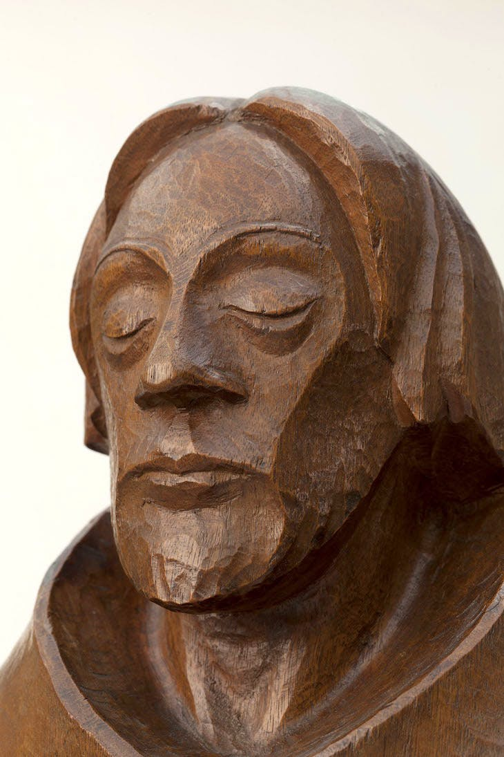 The Ascetic (detail; 1925), Ernst Barlach