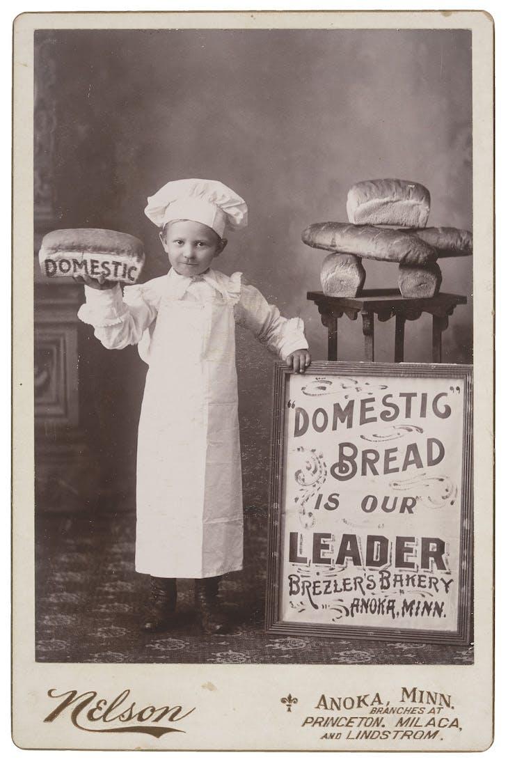 Untitled (Brezler's Bakery Boy) (c. 1890s), F.J. Nelson, Anoka.
