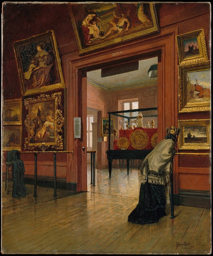 Interior View of the Metropolitan Museum of Art when in Fourteenth Street (1881), Frank Waller