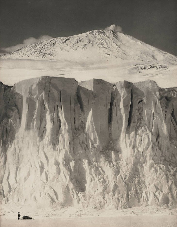 The Ramparts of Mount Erebus (1910), Herbert George Ponting
