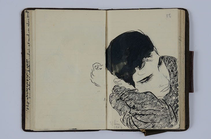 Page from 'Russian Notebook' (1906), Ernst Barlach.