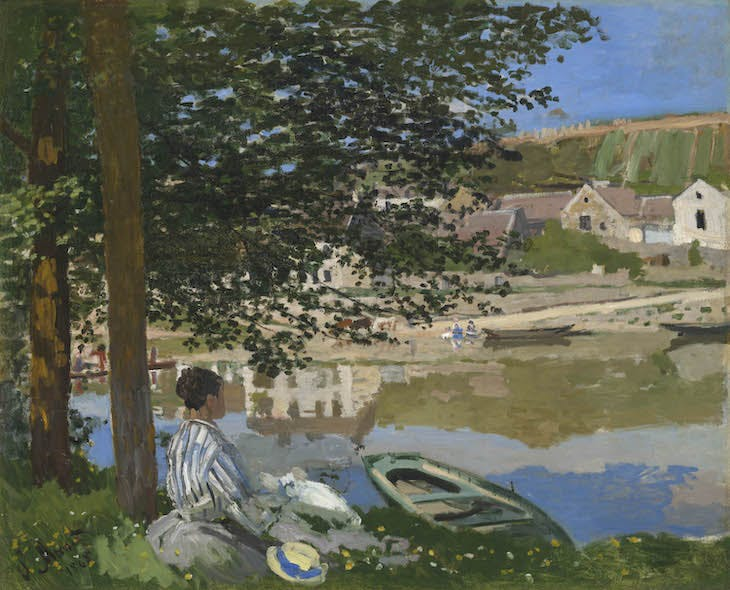 On the Bank of the Seine, Bennecourt (1868), Claude Monet.