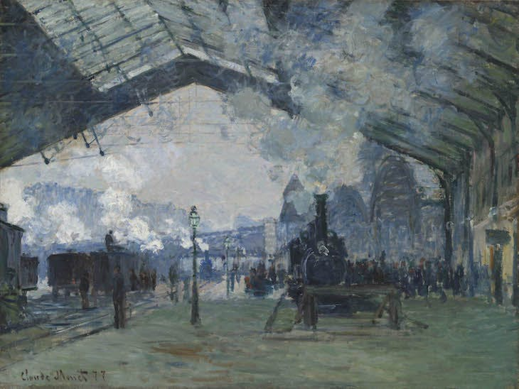 Arrival of the Normandy Train, Gare Saint-Lazare (1877), Claude Monet.