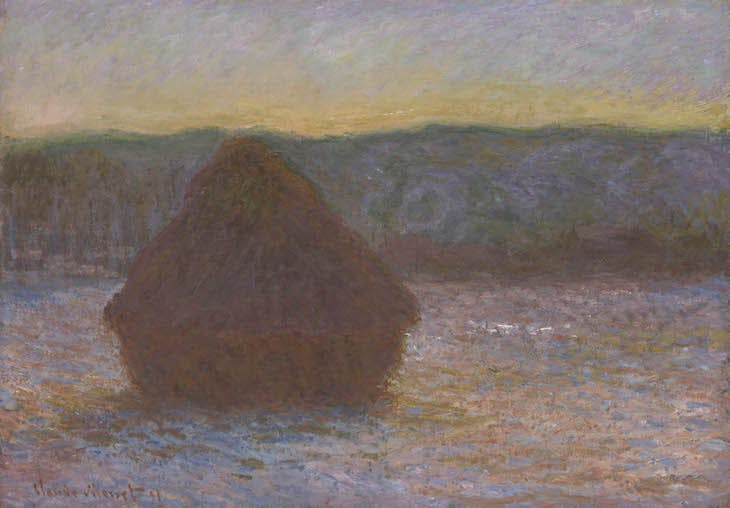 Stack of Wheat (Thaw, Sunset) (1890), Claude Monet.