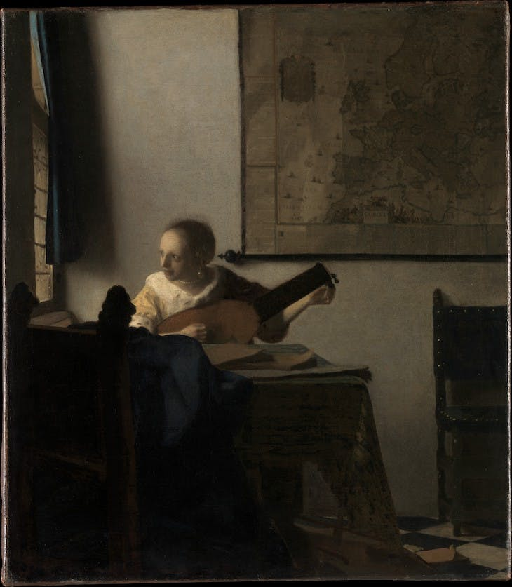 Young Woman with a Lute (c. 1662–63), Johannes Vermeer