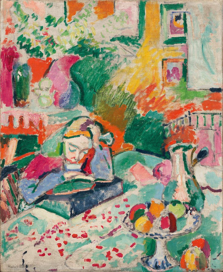 Interior with a Young Girl (Girl Reading) (1905–06), Henri Matisse.