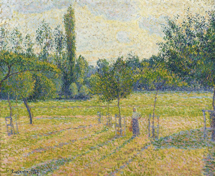 Late Afternoon in our Meadow (1887), Camille Pissarro.