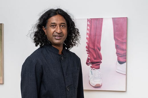 Niru Ratnam in his new gallery.