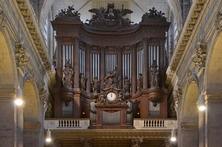 The great organ in the church of Saint-Sulpice, initially constructed by François-Henri Clicquot 1781.