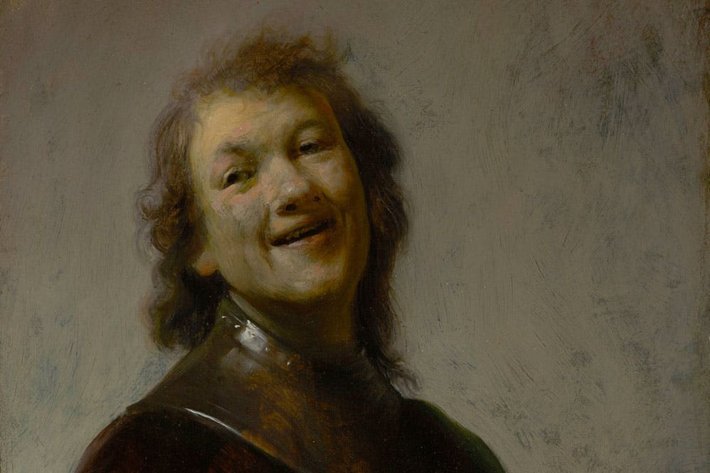 Rembrandt Laughing (detail; c. 1628), Rembrandt van Rijn. J. Paul Getty Museum, Los Angeles