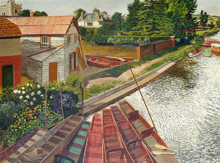 View from Cookham Bridge (1936), Stanley Spencer. Stanley Spencer Gallery, Cookham.