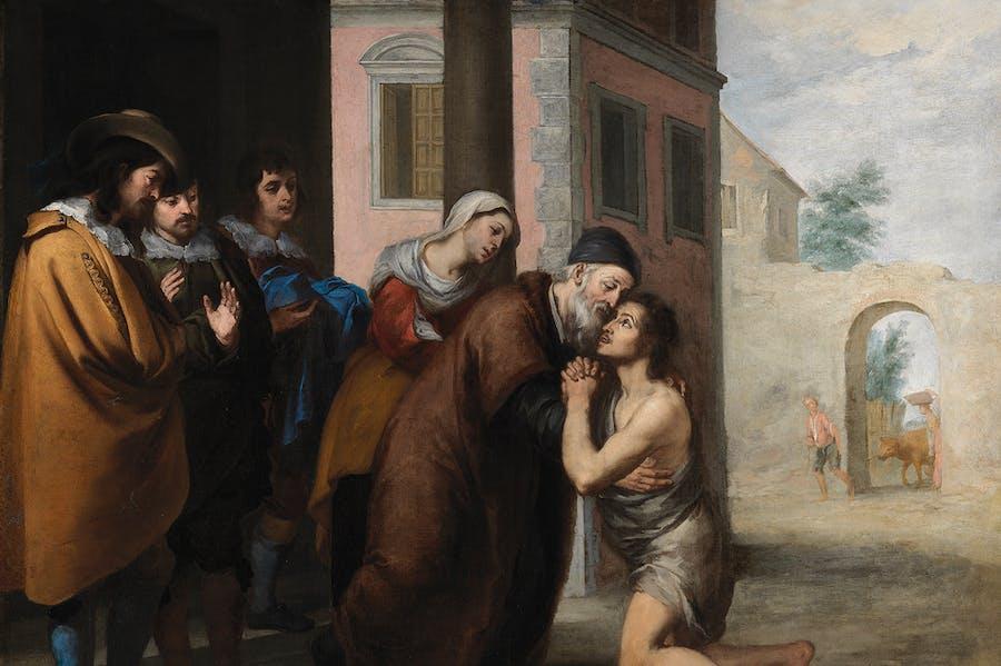 The Return of the Prodigal Son (detail; 1660s), Bartolomé Esteban Murillo.