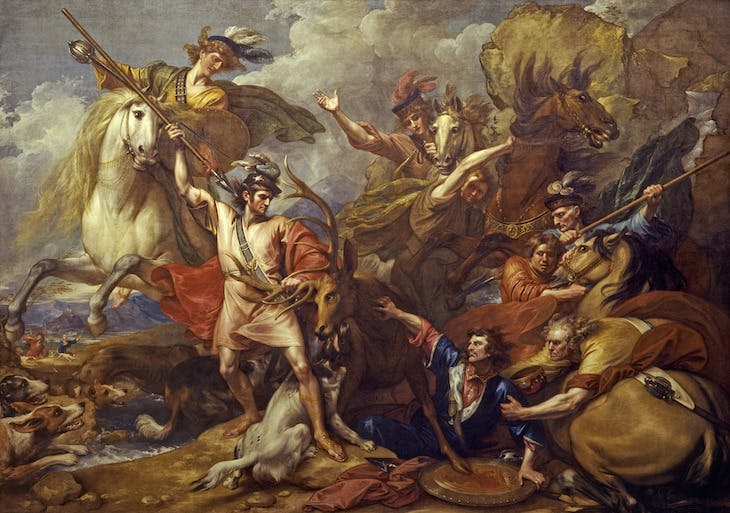 Alexander III of Scotland Rescued from the Fury of a Stag by the Intrepidity of Colin Fitzgerald ('The Death of the Stag')