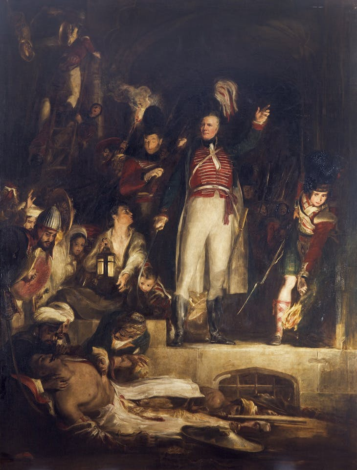 General Sir David Baird Discovering the Body of Sultan Tippoo Sahib after having Captured Seringapatam, on the 4th May, 1799 (1839), David Wilkie.