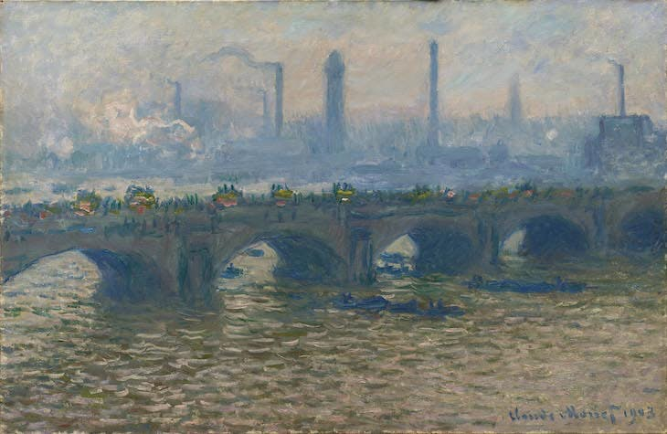 Waterloo Bridge, Overcast (1903), Claude Monet.
