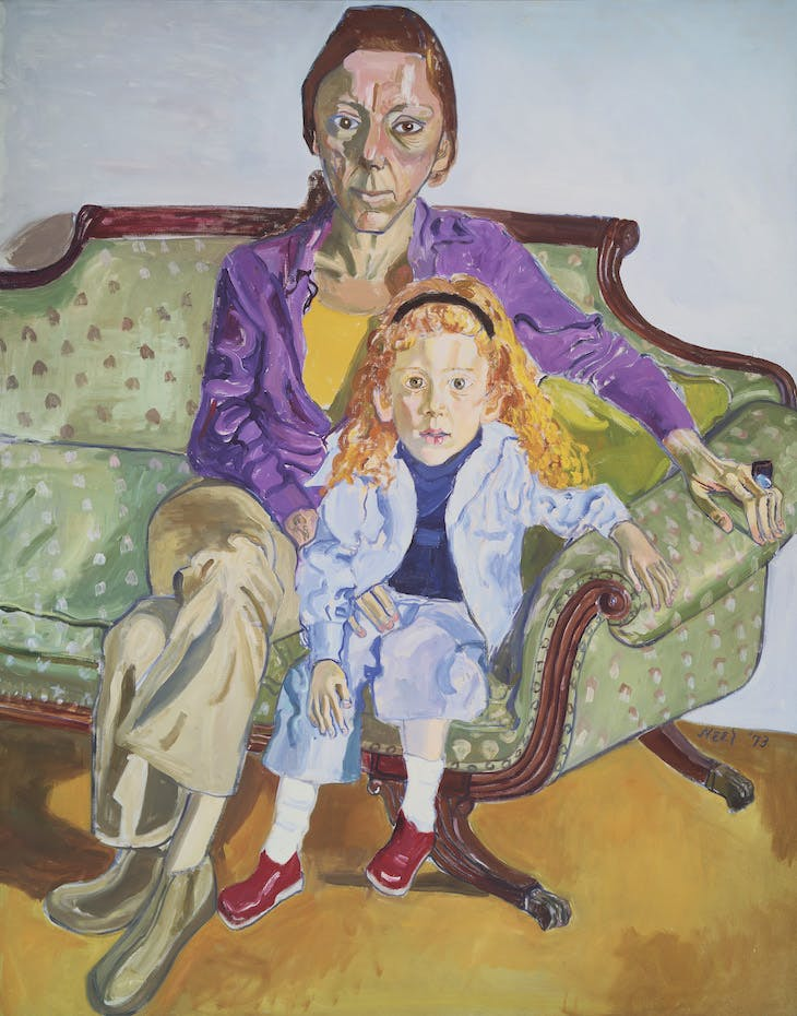 Linda Nochlin and Daisy (1973), Alice Neel.