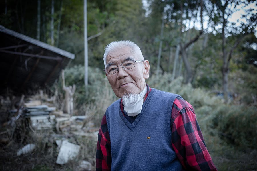 Ryoji Koie photographed outside his studio in Japan in 2017.
