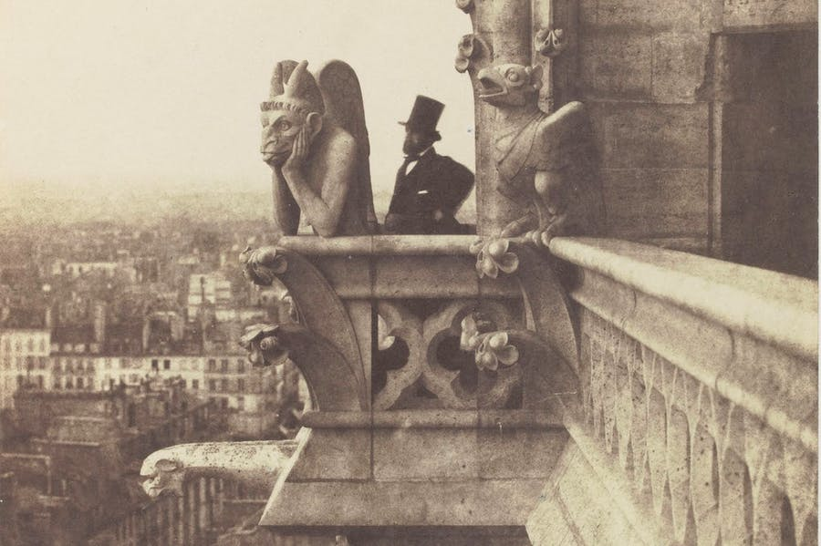 Le Stryge (detail; c. 1853), Charles Nègre.