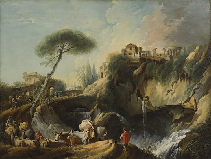 View of Tivoli with the Temple of Vesta (), François Boucher.