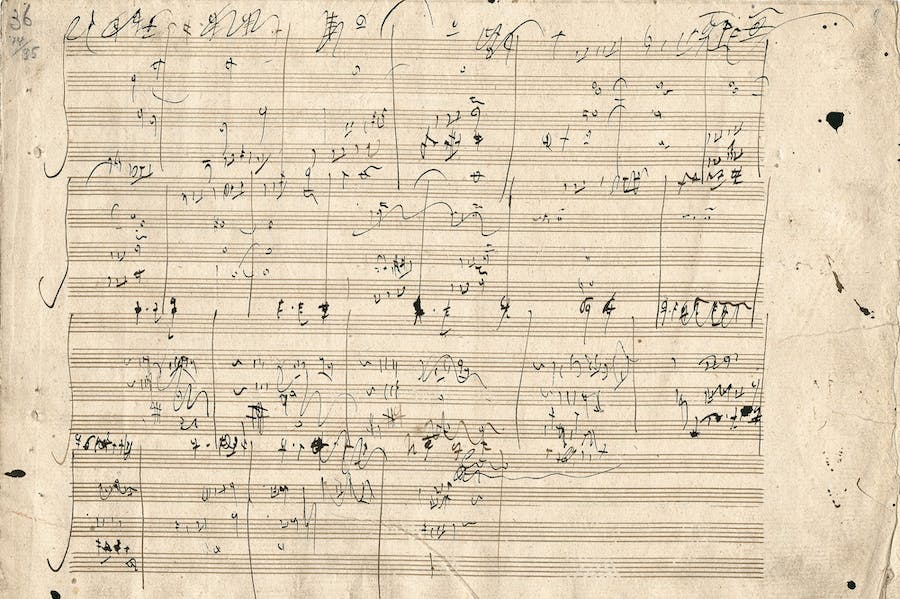Sketches for String Quartets (in F major, E minor and C major), op. 59 (1806), Ludwig van Beethoven.