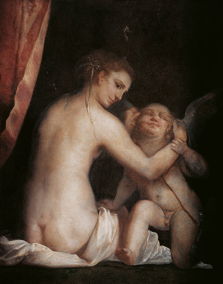 Venus Blindfolding Cupid (c. 1565), Luca Cambiaso