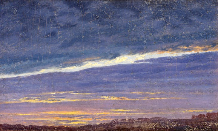 Cloudy Evening Sky (1824), Caspar David Friedrich.