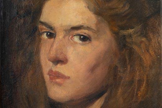 Self-portrait (1896), Elena Luksch-Makowsky.