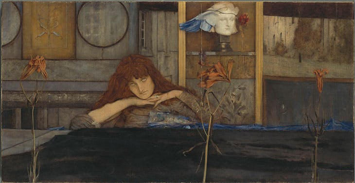 I lock my door upon myself (1891), Fernand Khnopff