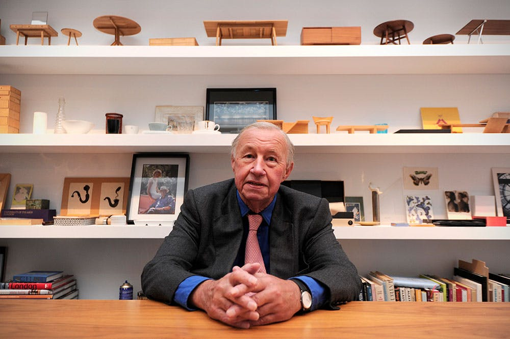 Terence Conran at the opening of his exhibition 'Terence Conran: The Way We Live Now' at the former Design Museum, London, 2011.