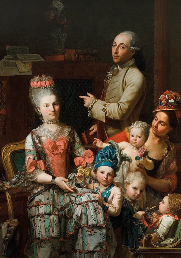 Portrait of Antonio Ghidini and His Family (c. 1780), Pietro Melchiorre Ferrari