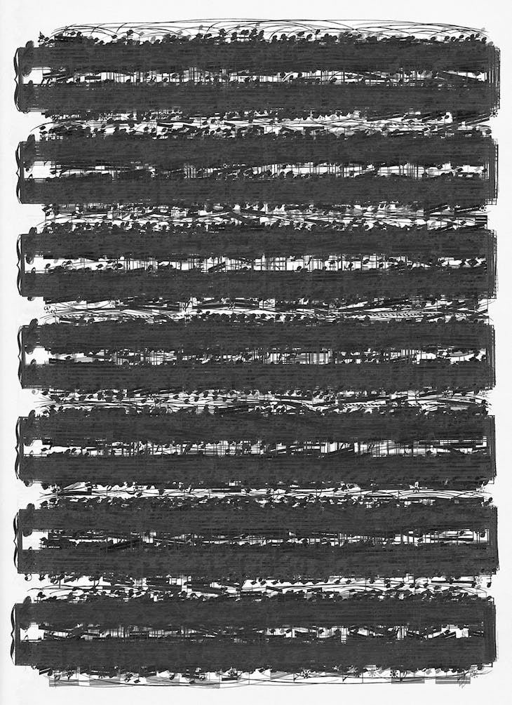 Struggling to Hear .... After Ludwig van Beethoven Sonatas (2005), Idris Khan.