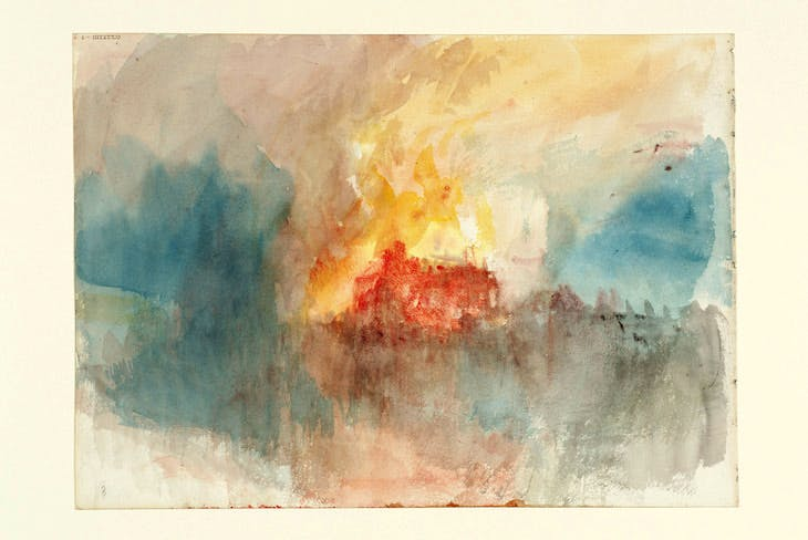 Fire at the Grand Storehouse of the Tower of London (1841), J.M.W. Turner.