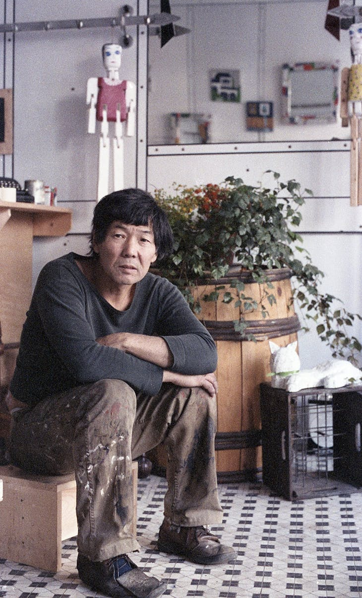 Robert Kobayashi in the front room of Moe's Meat Market in 1978/79.