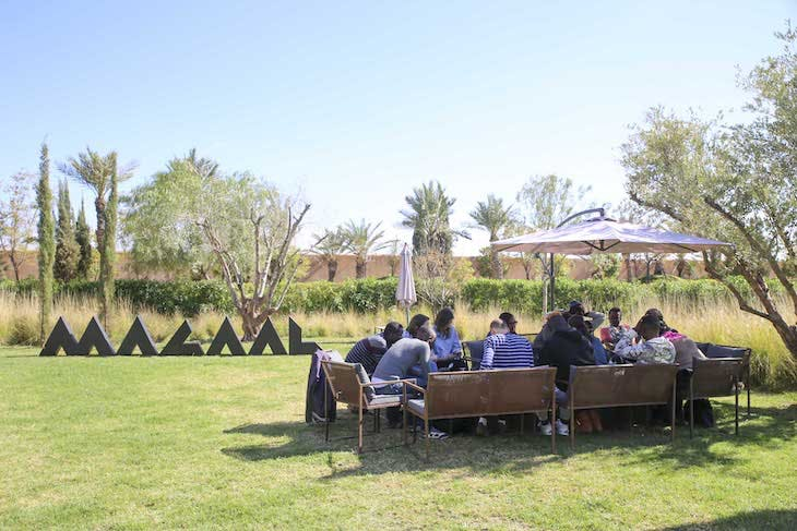 'Couscous and art' in the gardens of MACAAL.