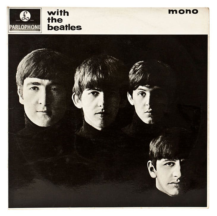 The album cover for the Beatles' With the Beatles (1963).