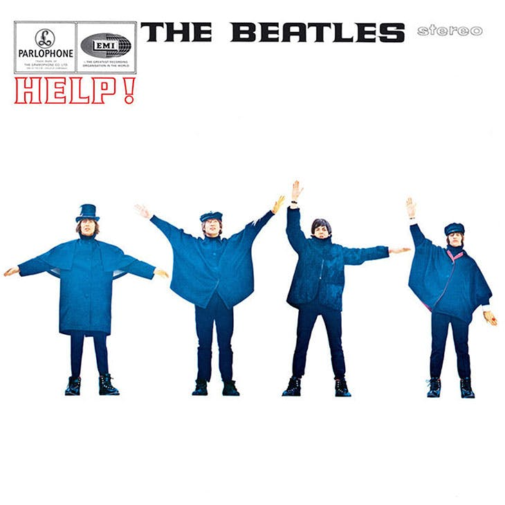 The album cover for the Beatles' Help! (1965). © The Estate of Robert Freeman