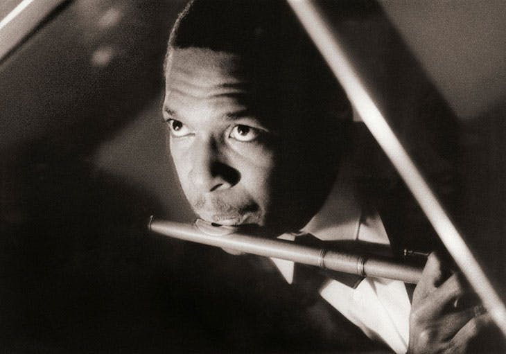 John Coltrane photographed by Robert Freeman.