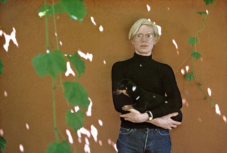 Andy Warhol photographed by Robert Freeman.